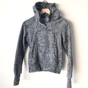 Lululemon grey and black patterned scuba jacket 4